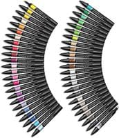 Winsor & Newton BrushMarker - Set of 48 - Essential Collection